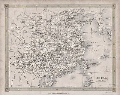 c1842 map of China by Alex Findlay