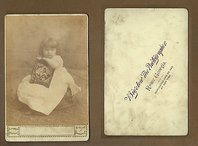 c1900 Rome GA,Bigelow Photographer,Young Girl Holding Illustrated Book Cover