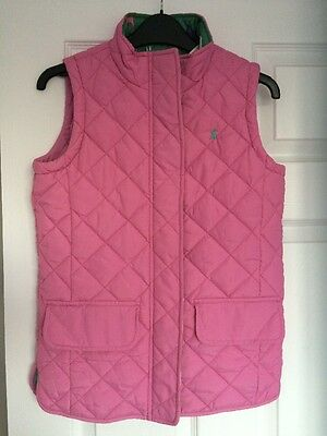 Girls Joules Pink Pony Horse Gilet age 11-12 years ⭐️Great Condition⭐️