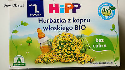 6xHiPP Organic Fennel Tea for Babies 20 x Teabags *NO SUGAR* from UK fast post