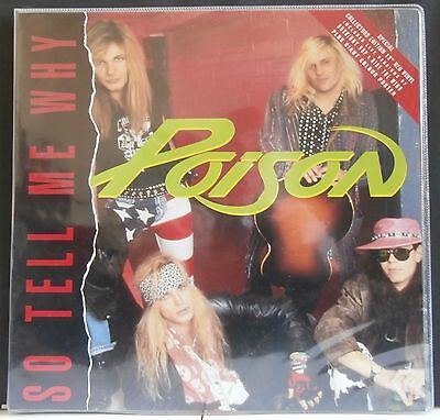 Poison - 'so Tell Me Why' - Unplayed 12'' Red Vinyl + Poster - Uk -  Metal