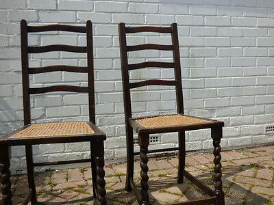 two edwardian chairs