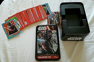 STAR WARS FORCE AWAKENS Limited Edition Darth Vader 50 CARDS Collector Tins RARE