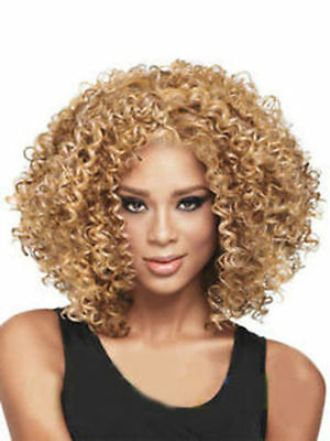 ladies Fashion wig Charm Women's short Mix Blonde Curly Natural Hair wigs FA256