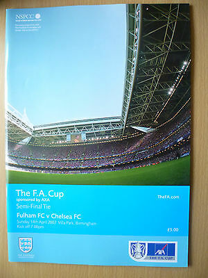 2002 FA CUP SEMI FINAL TIE Programme: FULHAM v CHELSEA