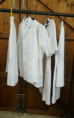 job lot of 5 white medical uniform items stage or hire