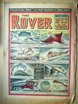 Comic-THE ROVER, No.1513,  26 June 1954; QUEER CREATURES of the DEEP