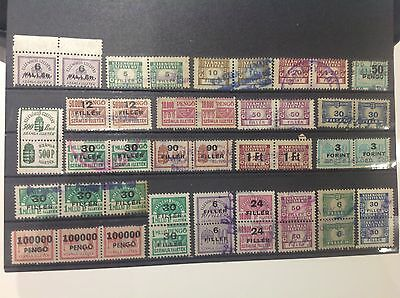 Hungary Different Revenue fiscal lot!Used on 1 scan.nr.3.