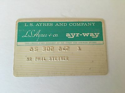 Vintage Retail Charge Credit Card R13 L. S. Ayres & Company
