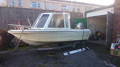 14 Ft Boat trailer and engine