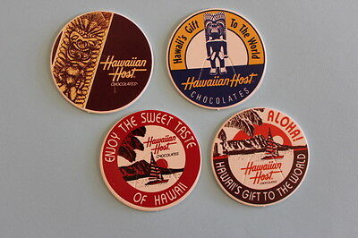 POG set of 4 HawaiianHost Chocolates pogs