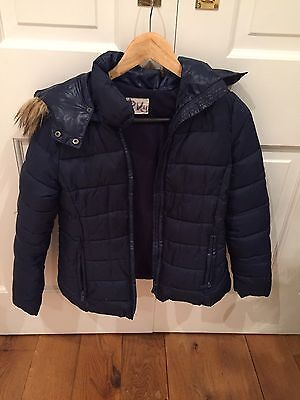 Girls Zara Puffer Jacket Age 11-12 Blue