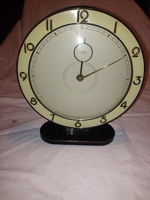 "Vintage Art Deco 8.5"" Diameter Kienzle Electric Movement Clock"