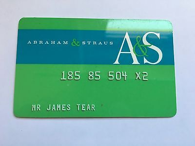 Vintage Retail Charge Credit Card J22 Abraham & Straus A&S