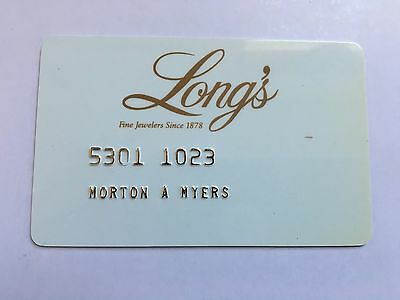 Vintage Retail Charge Credit Card J22 Long's Jewelers