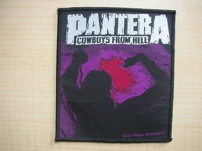 Pantera Cowboys From Hell Woven Sew On Rock Metal Music Badge Patch