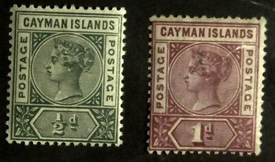 Stamps: Cayman Islands: SG# 1 MLH & 2 MH  F  (D050)