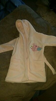Baby girl pink dressing gown 6 -12months