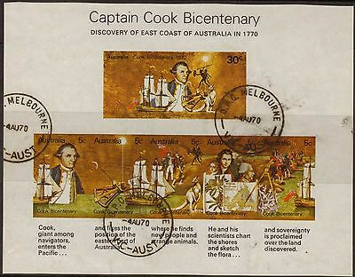 Australia:1970:Bicentenary of Captain Cook,Min/Sheet,(Imperf).Used.(L)