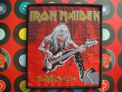 Iron Maiden Fear Of The Dark Live Sew On Rock Jacket Badge Patch