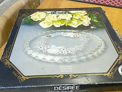 walther glass torte plate