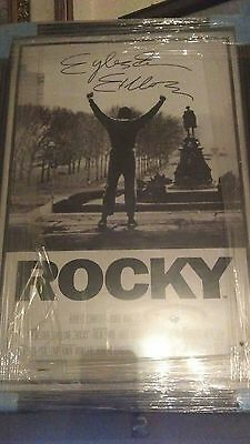 signed and sealed sylvester stallone rocky poster extra large real and rare