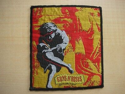 1991 Guns N Roses Use Your Illusion Woven Used Sew On Rock Jacket Badge Patch