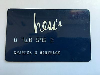 Vintage Retail Charge Credit Card J22 Hess's
