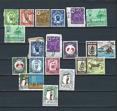 Middle East UAE Trucial Abu Dhabi- nice selection of fu stamps - good value