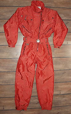 Women SPYDER Vintage One Peace Warm Ski Suit Jacket Pants, Size UK 14 / EU 40-42