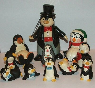 A nice collection of 11 cute n comical penguin figures