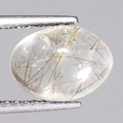 NATURAL AFRICA RUTILITE QUARTZ OVAL 1.77 Ct GEMSTONE