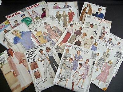 13 LADIES 1960/1970s SEWING PATTERNS VARIOUS- GOOD CONDITION - AND TWO MENS