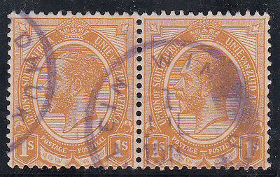 SWA OCC 1915/23 - PMKs ON KGV   KLEIN WINDHUK 1918 Scarce Violet Rubber cancell