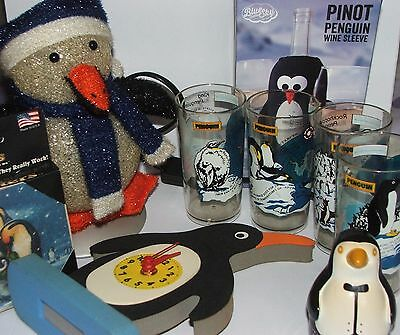 Practical penguins! - A lamp, clock, coasters, wine cooler, oven timer & beakers