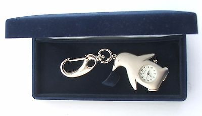 A cute penguin with clock key ring