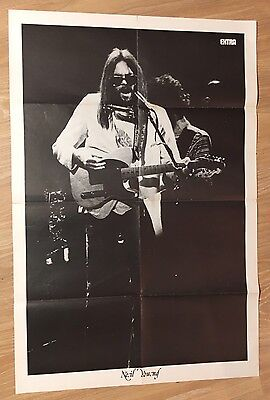 Poster revue magazine EXTRA - Neil YOUNG / RORY GALLAGHER -Bel Etat