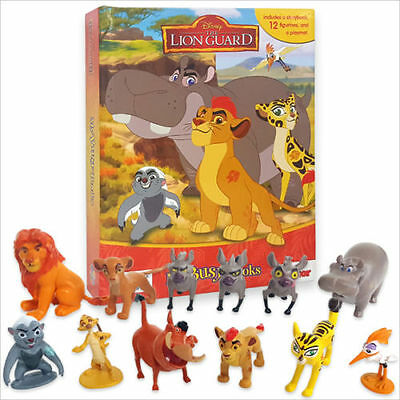 NEW Disney The Lion Guard Lion King Set Of 12 Figures & My Busy Book & Map