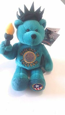 Limited Treasures Collectibles Lady Liberty - The Freedom Coin Bear with NY Coin