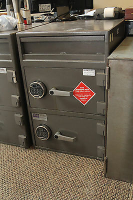 Allied Burglary Chest SAFE- Rated 2 door used Drop Safe Electronic Locks