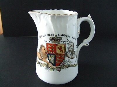 Foley China Queen Victoria Sixty Years Jug 1897