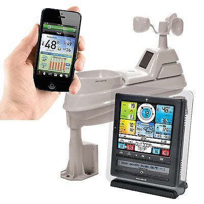 AcuRite Pro Color Weather Station with PC Connect, Rain Wind Temperature, 5-in-1
