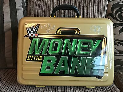 Signed Wwe Championship Belt Money In The Bank Commemorative Briefcase