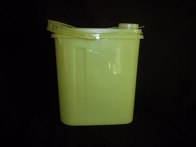 Vintage Tupperware Sheer Yellow Slimline Pitcher # 587