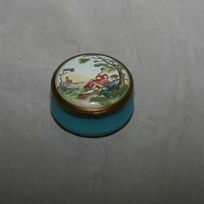 Halcyon Days Bilston and Battersea Trinket Box Courting Couple