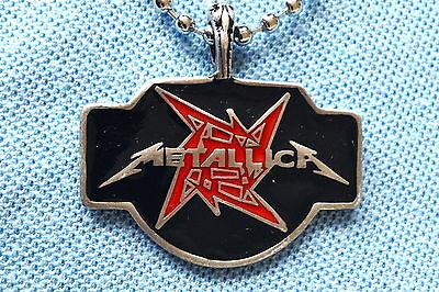 Metallica Heavy Metal Pendant Mens Boys Necklace Chain    Bpc045