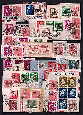 Japan- Selection Of Fine Used Postmarks On Pieces.super Lot.