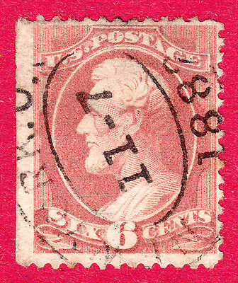 USA / United States Stamps. 1870 Lincoln 6c. SG161. Used. #2229