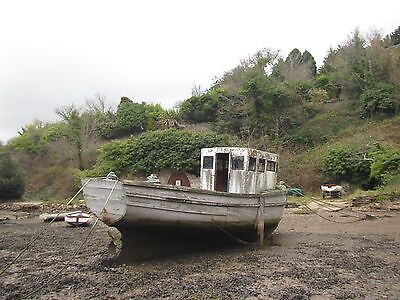 Wooden boat project ex fishing boat. Looe Lugger style.