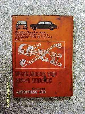 Austin/morris 1800 1964-71 184-Page Owners Workshop Manual - Used Condition